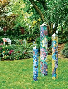 "(lots of art poles here too) ""Mosaic"" Art Pole Set of 3 PG270 sold by Quirks of Art . Shop more products from Quirks of Art  on Storenvy, the home of independent small businesses all over the world."