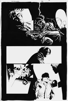 EDUARDO RISSO - 100 BULLETS Nº52 PAGE 21 ( THE HARD WAY: WYLIE RUNS THE VOODOO DOWN PART II OF VII ) Comic Art
