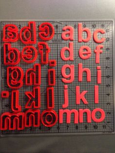 lowercase arial bold alphabet cookie cutters by jbcookiecutterscom