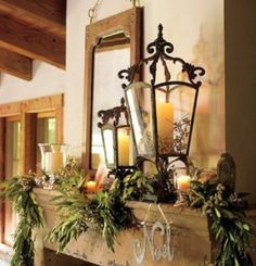 41 Amazing Christmas Lanterns For Indoors And Outdoors | DigsDigs  Photo #18  On The Mantel  PRETTY !!!