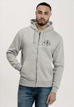Unisex Tracksuit Zip-Up Hoodie Heather Grey