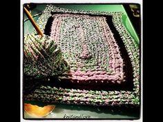 Knit and Love Old Shirts, Crochet Videos, T Shirt Yarn, Crochet Yarn, Diy Tutorial, Jewelry Crafts, Crochet Projects, Diy Crafts, Blanket
