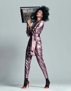 0ffcc9999 Imaan Hammam by Chris Colls for The Edit February Art director: Gemma Stark  Fashion editor: Tracy Taylor Hair stylist: Peter Gray Makeup artist: Maud  ...