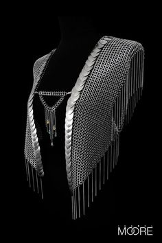 Phoenix Waistcoat handcrafted from Stainless Steel http://isabelmoore.com/products/phoenix-waistcoat