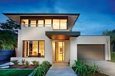 Houseplans.com Modern Front Elevation Plan #496-18