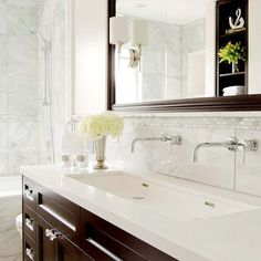 trough sink with dual faucets -- Cube collection from Wetstyle