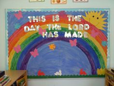 Sunday School Bulletin Boards Layouts | ... is the day the Lord has made! bulletin ... | Bulletin Board Ide