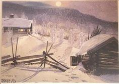 Kunstkort - Steinsbu - Trygve M Davidsen Snow, Illustration, Outdoor, Outdoors, Illustrations, Outdoor Games, The Great Outdoors, Eyes, Let It Snow