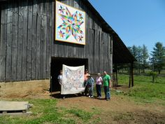 Star Burst  barn quilt