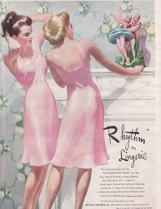 vintage ad lingerie | Vintage Ad Rythm In Lingerie Beautiful Young Women (Vintage Ladies ...