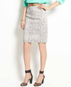 Ann Taylor Petite Flutter Print Pencil Skirt on shopstyle.com