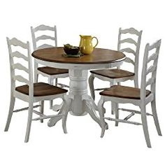 Home Styles 5518 308 The French Countryside 5 Piece Dining Set Oak And