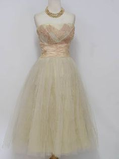 1950's Womens Fab Fifties Cocktail Maxi Dress - my mother's wedding dress was a version of this.