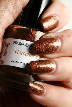 The Spooky Bones Company Watcher's Woods #nailpolish #beauty #areyouafraidofthedark #throwback