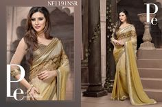 #Light #Cream #Chiffon #Saree #For #The #Nobel #Women $93.09 www.fashionumang.com