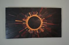 Venusian eclipse - Wooden wall art, wood art, unique wall art, modern, contemporary, sun, eclipse, venus on Etsy, $750.00
