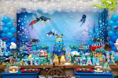 Boy Birthday Parties, Baby Birthday, Mermaid Birthday, Baby Shark, Birthday Decorations, Party Time, First Birthdays, Balloons, Wedding