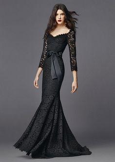 Black lace maxi dress spring summer 2015 on fashionmyloveitaly Dolce    Gabbana Abbigliamento Donna Estate 2015. Vestiti FormaliAbiti ElegantiAbiti  ... dcd3314fa8e