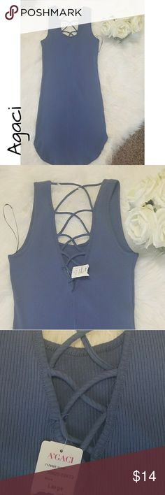 Agaci Sleeveless Bodycon New with tags. Form fitted dress with cross detail on the back. Agaci Dresses