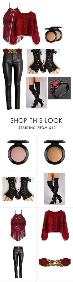 """Koko's inspired outfit"" by fanfictionlover-xoxoxo ❤ liked on Polyvore featuring MAC Cosmetics, Chicwish and H&M"