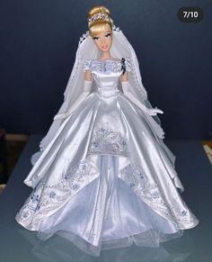 Disney Barbie Dolls, Barbie Top, Disney Princess Dolls, Disney Princess Dresses, Barbie Bridal, Barbie Wedding, Cinderella Doll, Cinderella Dresses, Barbie Gowns