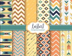 Ad: Tribal Backgrounds,Ikat Navajo Aztec by GraphicMarket on 12 Tribal Digital Scrapbook Paper pack in native Indian Navajo style, native Indian, Ikat, zig-zag and chevron retro style papers in pink Tribal Patterns, Graphic Patterns, Graphic Design, Crochet Patterns, Tribal Background, Paper Background, Desenhos Love, Navajo Style, Digital Scrapbook Paper