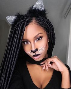So I filmed a get ready with me video alongside my sister. Not sure if Im going to post it though, because she completely ruined her clown makeup Anyhuuu.... Heres a photo of my sexy cat halloween look. Its a good look for celebrating Halloween on a budget!
