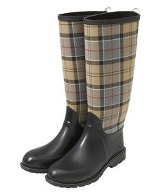 Womens Barbour Town & Country Tartan Wellingtons