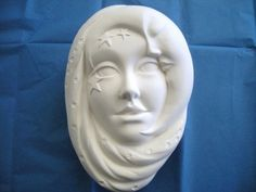 JC Moon Lady Mask Ceramics by JCArtandCeramics on Etsy, $8.00