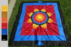 quilt patterns native american designs | Diane's Native American Star Quilts: Photo Gallery of Star Quilts Lone Star Quilt, Star Quilts, Easy Quilts, Native American Images, Native American Design, Southwest Quilts, Star Quilt Patterns, Blanket Patterns, Star Blanket