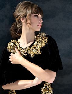 Felicity Jones Dons Dolce & Gabbana for Yo Dona December Cover Shoot by Iakovos Kalaitzakis