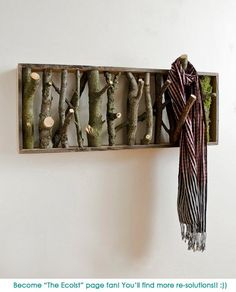 eco style: wardrobe out of branches - this is renewable, environmental-friendly & biodegradable   wardrobe . Garderobe . garde-robe   @ The Ecoist  