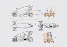 Grid Design, Bike Design, Small Electric Cars, Go Kart Frame, Electric Trike, Tricycle Bike, Industrial Design Sketch, Quad Bike, E Scooter