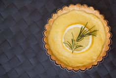 greek inspired lemon tarts with rosemary infused crust