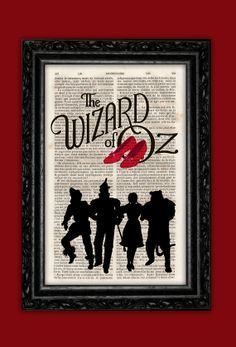 Wizard of Oz Silhouettes Print  Dorothy Red by ThePurpleHamster, €7.00