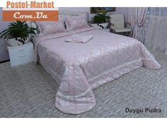 Покрывало Arya сатин Duygu розовое. Купить в Украине (Постель Маркет, Киев)