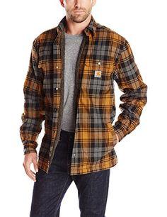 Carhartt Men's Hubbard Sherpa Lined Shirt Jacket, Carhart…