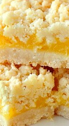 Coconut Lemon Crumble Bars ❊