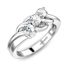 Three gallant sweet looking diamonds for your sweetheart, to make her fall in love with you each day, each time she looks at her dainty fingers! Leave your mark on her finger! #TheBrrrCollection #Ring #WhiteGold #Christmas