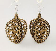 Acorns - Laser Cut Wood Earrings. $12.95, via Etsy.