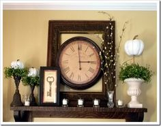LOVE this Fall Mantle!