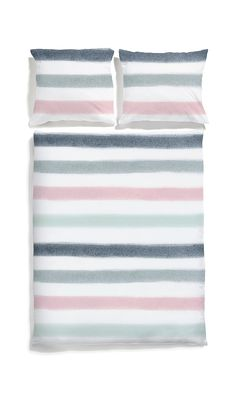 White pocket bedding #stripes #bedlinen