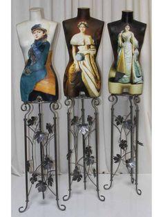Dress Form Mannequin, Vintage Mannequin, Mannequin Heads, Simple Dresses, Nice Dresses, Mannequin Display, Wrought Iron Decor, Art Vintage, Mannequins