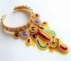 Beautiful jewelry by Ksenia Burzalova Click on link to see more photos - http://beadsmagic.com/?p=6210
