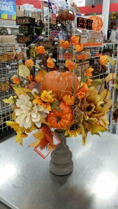 Fall pumpkin arrangement at Michael's Longview Washington