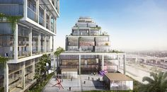 Gallery of BIG Unveils Mixed-Use Concrete Superstructure for Los Angeles' Arts District - 7