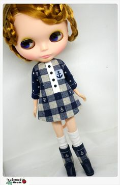 LADYBIRD HOUSE Blythe Outfit Navy Style Boots by bubufashion, $17.00