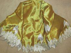 "Dillards Christmas Tree Skirt NEW 74"" Gold w/ White Embroidered Leaves Stunning! #Dillards"
