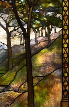 Visit Chicago's Driehaus Museum to view works by Louis Comfort Tiffany on exhibit through June More than 60 objects including windows, vases, lamps and accessories will be on view in a magnificent historic setting. Stained Glass Designs, Stained Glass Panels, Stained Glass Projects, Stained Glass Patterns, Leaded Glass, Stained Glass Art, Beveled Glass, Mosaic Glass, Tiffany Stained Glass