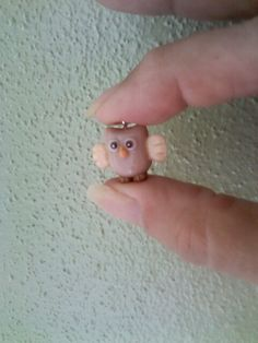 Cold porcelain baby owl...by Miriam Rivera